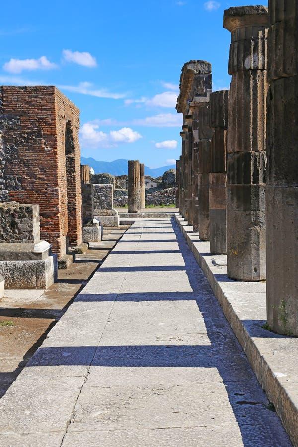 Καταστροφές της αρχαίας Πομπηίας στοκ φωτογραφία με δικαίωμα ελεύθερης χρήσης