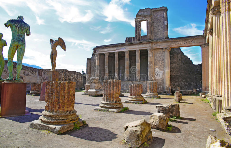 Καταστροφές της αρχαίας Πομπηίας στοκ εικόνες με δικαίωμα ελεύθερης χρήσης