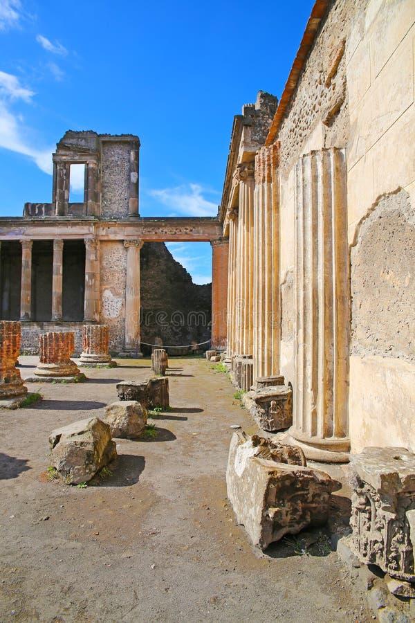 Καταστροφές της αρχαίας Πομπηίας στοκ εικόνες