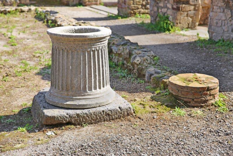 Καταστροφές της αρχαίας πόλης Πομπηία στοκ φωτογραφίες με δικαίωμα ελεύθερης χρήσης