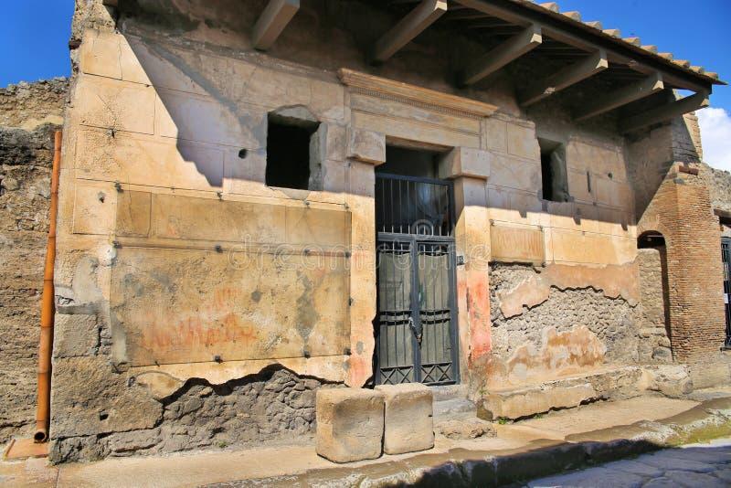Καταστροφές της αρχαίας πόλης Πομπηία στοκ εικόνες με δικαίωμα ελεύθερης χρήσης
