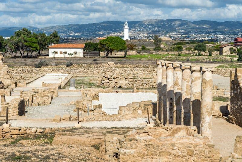 Καταστροφές της αρχαίας πόλης στη Πάφο στοκ φωτογραφία με δικαίωμα ελεύθερης χρήσης