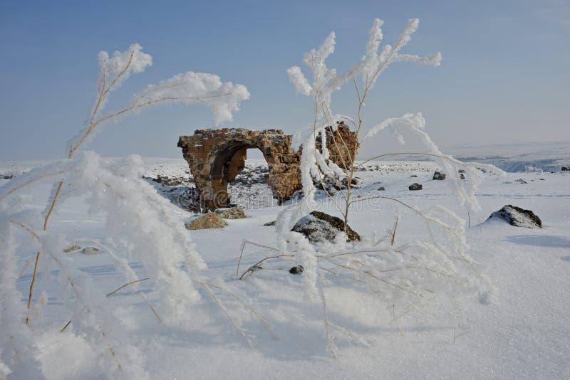 Καταστροφές της αρχαίας πόλης Ani στοκ εικόνα