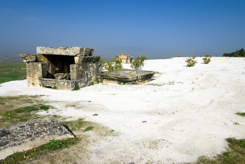 Καταστροφές της αρχαίας πόλης Hierapolis στοκ εικόνες