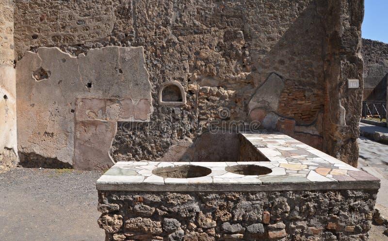 Καταστροφές της αρχαίας ρωμαϊκής πόλης της Πομπηίας στοκ εικόνες με δικαίωμα ελεύθερης χρήσης