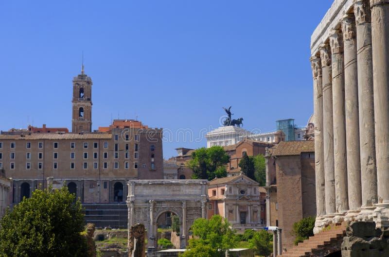 Καταστροφές της αρχαίας Ρώμης, Ιταλία στοκ εικόνα