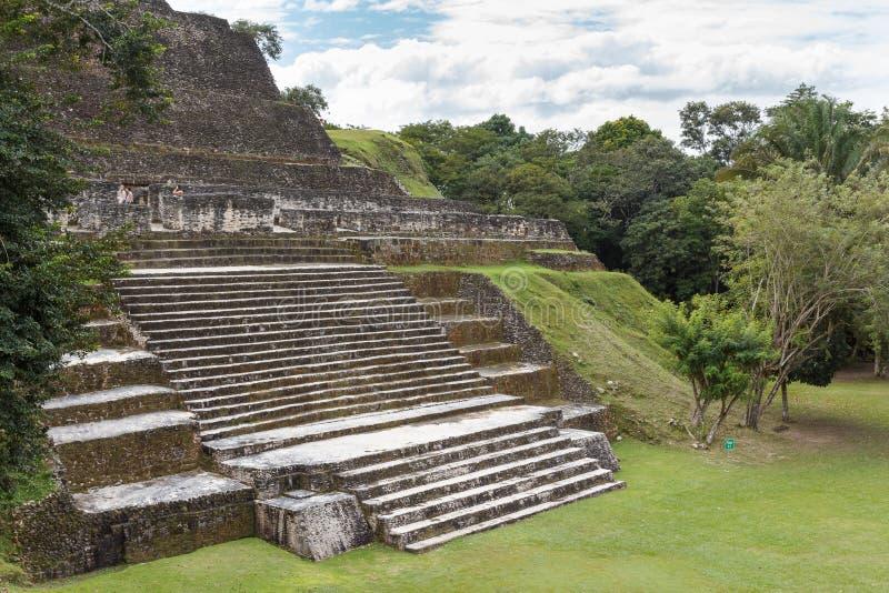 Καταστροφές της αρχαίας των Μάγια πόλης στοκ εικόνες