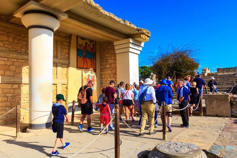 Καταστροφές της Κνωσού, Κρήτη του παλατιού Minoan, Ελλάδα στοκ εικόνες με δικαίωμα ελεύθερης χρήσης