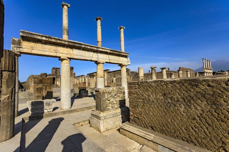 Καταστροφές της Πομπηίας, Ιταλία στοκ φωτογραφία
