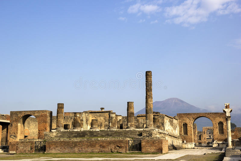 Καταστροφές της Πομπηίας στοκ εικόνα