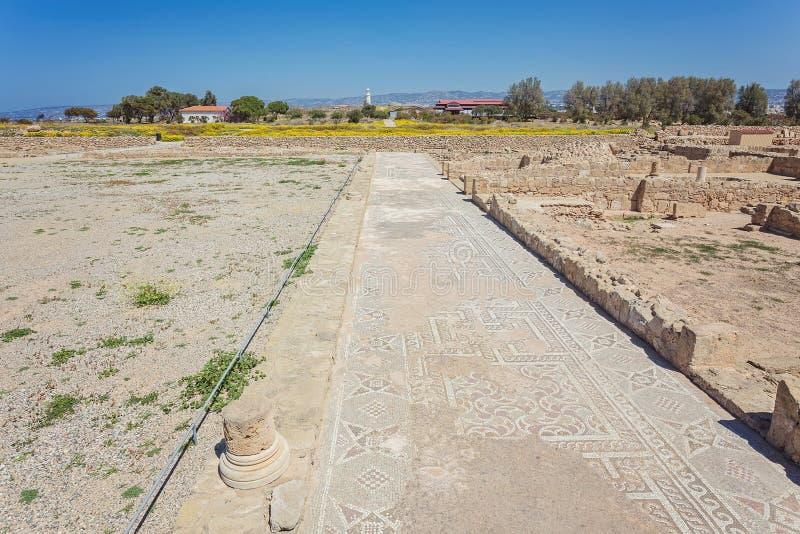 Καταστροφές της πόλης Πάφος, Κύπρος αρχαίου Έλληνα στοκ φωτογραφία