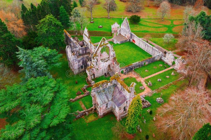 Καταστροφές του αβαείου Dryburgh στα σκωτσέζικα σύνορα στοκ εικόνες με δικαίωμα ελεύθερης χρήσης