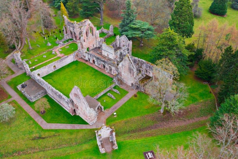 Καταστροφές του αβαείου Dryburgh στα σκωτσέζικα σύνορα στοκ εικόνες