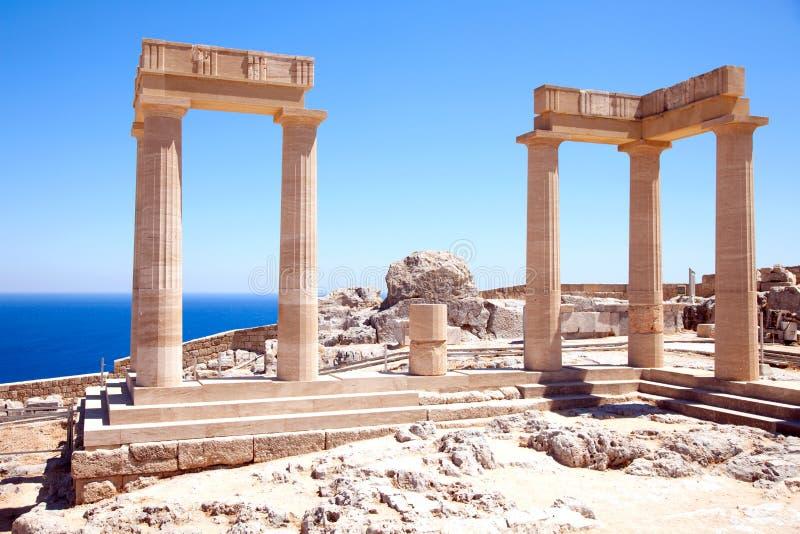 Καταστροφές του αρχαίου ναού στοκ εικόνες με δικαίωμα ελεύθερης χρήσης