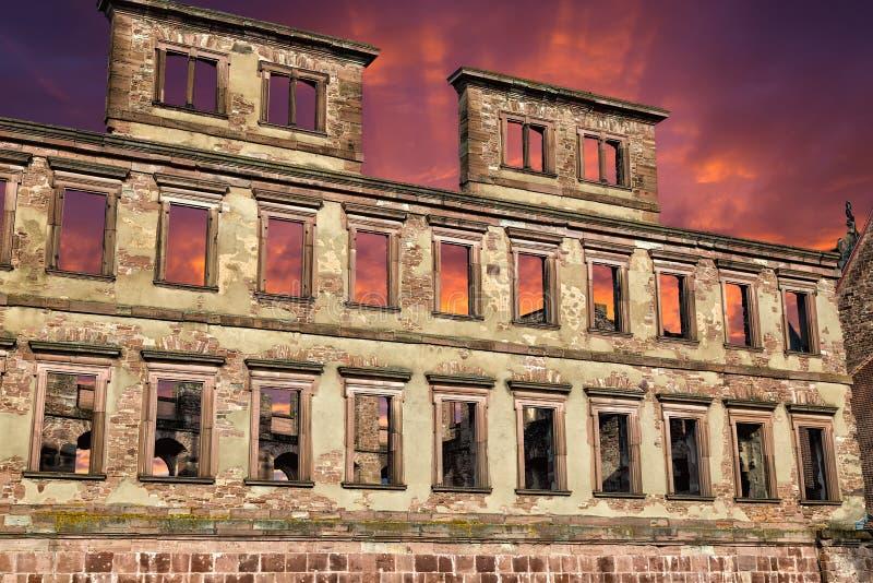 Καταστροφές του μεσαιωνικού κάστρου - Χαϋδελβέργη Γερμανία στοκ φωτογραφίες με δικαίωμα ελεύθερης χρήσης