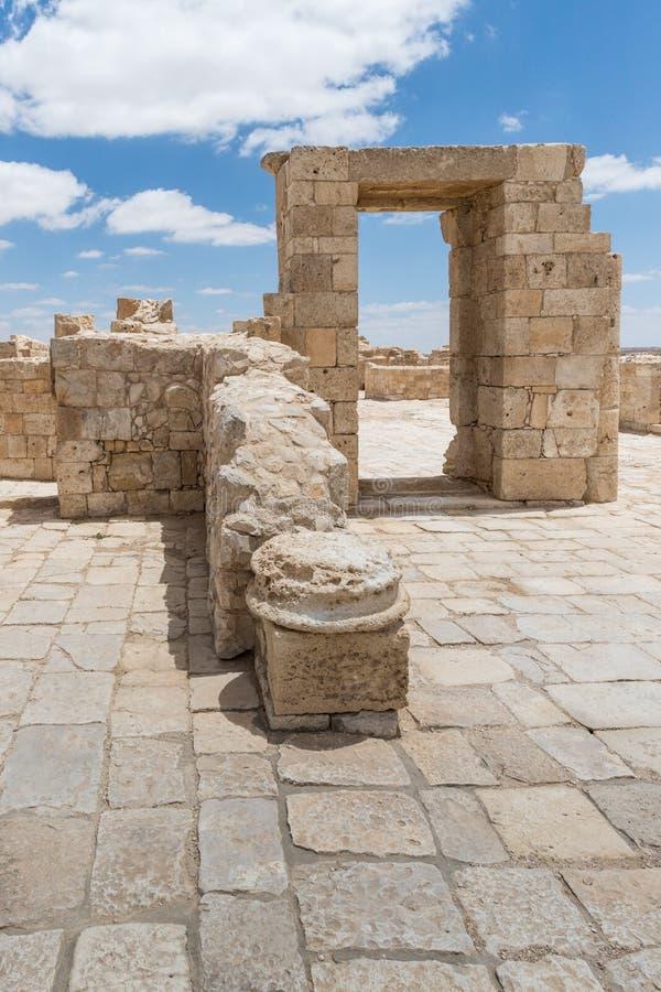 Καταστροφές του ναού Nabatean στην πόλη Nabataean Avdat, που βρίσκεται στο δρόμο θυμιάματος στην έρημο Judean στο Ισραήλ Είναι IN στοκ εικόνες με δικαίωμα ελεύθερης χρήσης