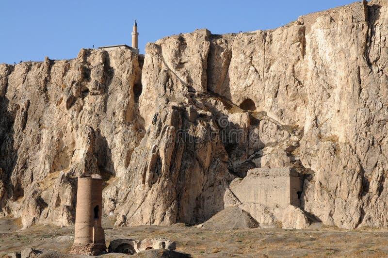 Καταστροφές του παλαιού οχυρού στο φορτηγό, ανατολική Τουρκία στοκ εικόνες