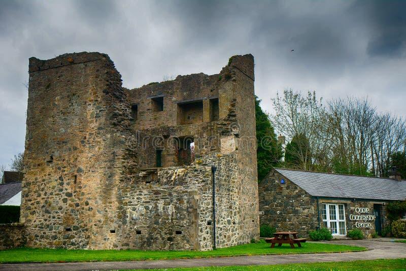 Καταστροφές του Castle, Quoile, Βόρεια Ιρλανδία στοκ φωτογραφία