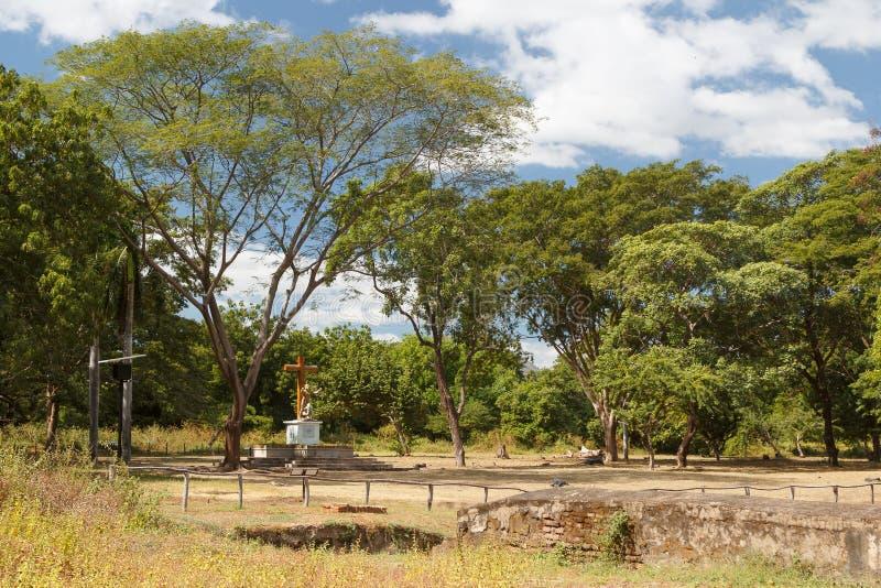 Καταστροφές του Leon Viejo, περιοχή κληρονομιάς της ΟΥΝΕΣΚΟ στοκ φωτογραφία με δικαίωμα ελεύθερης χρήσης
