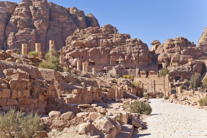 Καταστροφές του nabataean ναού στοκ φωτογραφίες