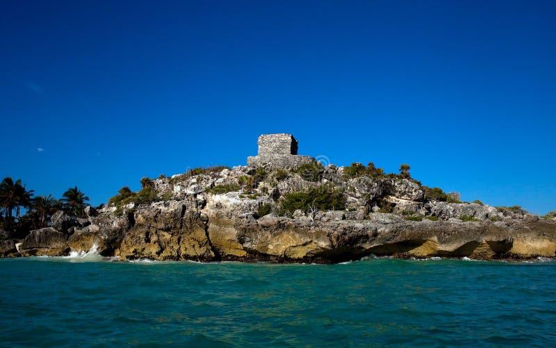 Καταστροφές των αρχαίων των Μάγια πόλεων Tulum, Yucatan στοκ εικόνες