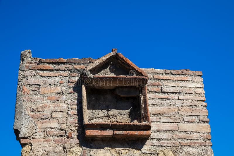Καταστροφές των σπιτιών στην αρχαία πόλη της Πομπηίας στοκ φωτογραφίες με δικαίωμα ελεύθερης χρήσης