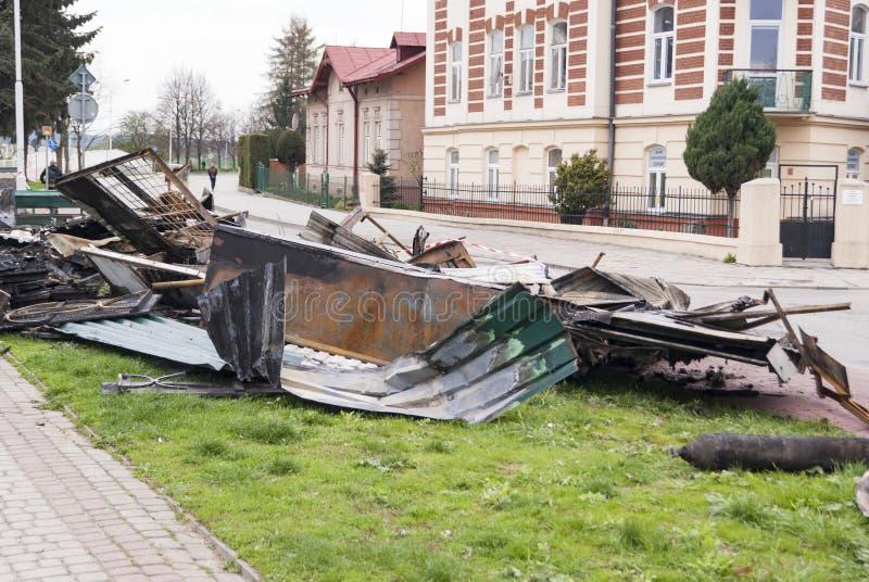 Καταστροφές φραγμών στοκ φωτογραφία με δικαίωμα ελεύθερης χρήσης