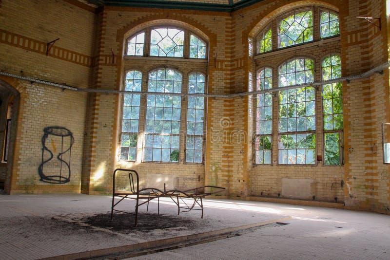 Καταστροφές χαμένης της beelitz-Heilstätten θέσης Βερολίνο Βραδεμβούργο στοκ εικόνες με δικαίωμα ελεύθερης χρήσης