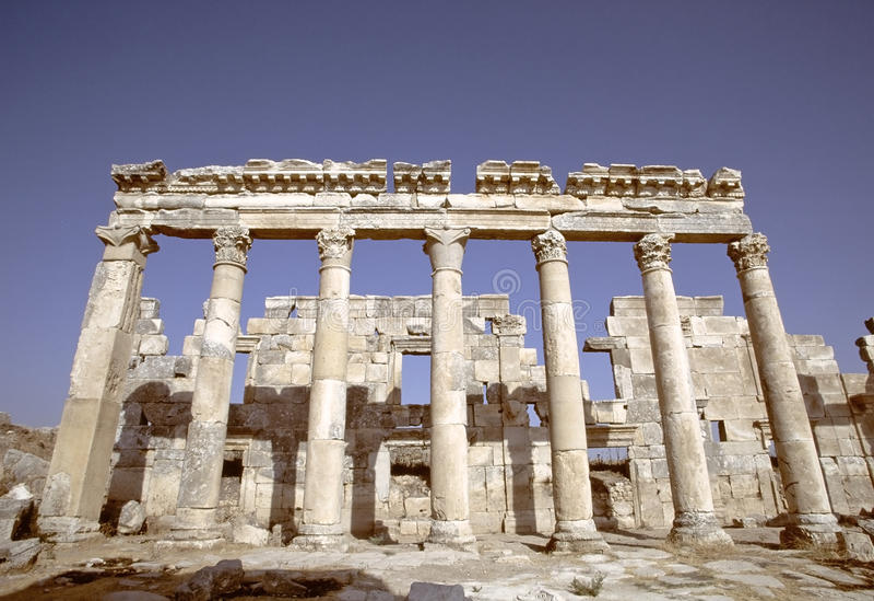Καταστροφές Apamea, Συρία στοκ φωτογραφίες