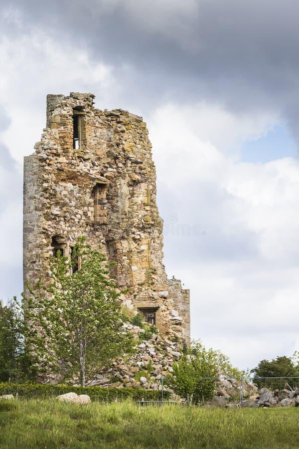 Καταστροφές Blervie Castle κοντά σε Rafford σε Moray στοκ εικόνες