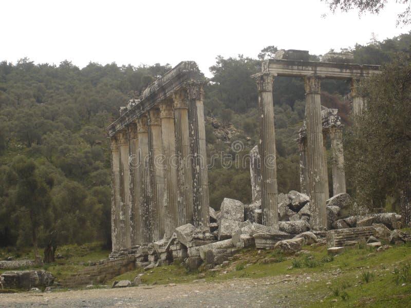 καταστροφές euromos στοκ εικόνα