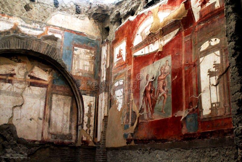 Καταστροφές Herculaneum έργου τέχνης, Ercolano Ιταλία στοκ φωτογραφίες με δικαίωμα ελεύθερης χρήσης