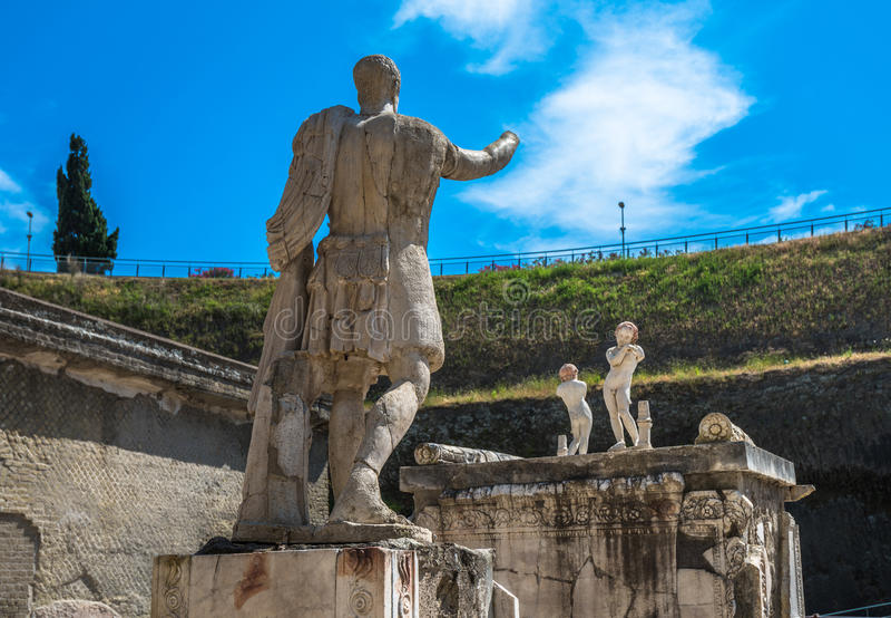 Καταστροφές Herculaneum, αρχαία ρωμαϊκή πόλη που καταστρέφεται από το Βεζούβιο στοκ φωτογραφία με δικαίωμα ελεύθερης χρήσης