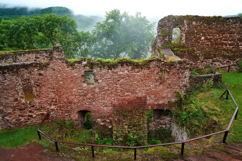 Καταστροφές Hohnstein Burg σε Harz Neustadt Γερμανία στοκ εικόνα