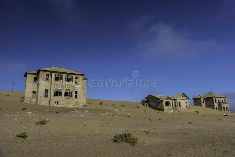 Καταστροφές Kolmanskop στην έρημο της Ναμίμπια στοκ φωτογραφία