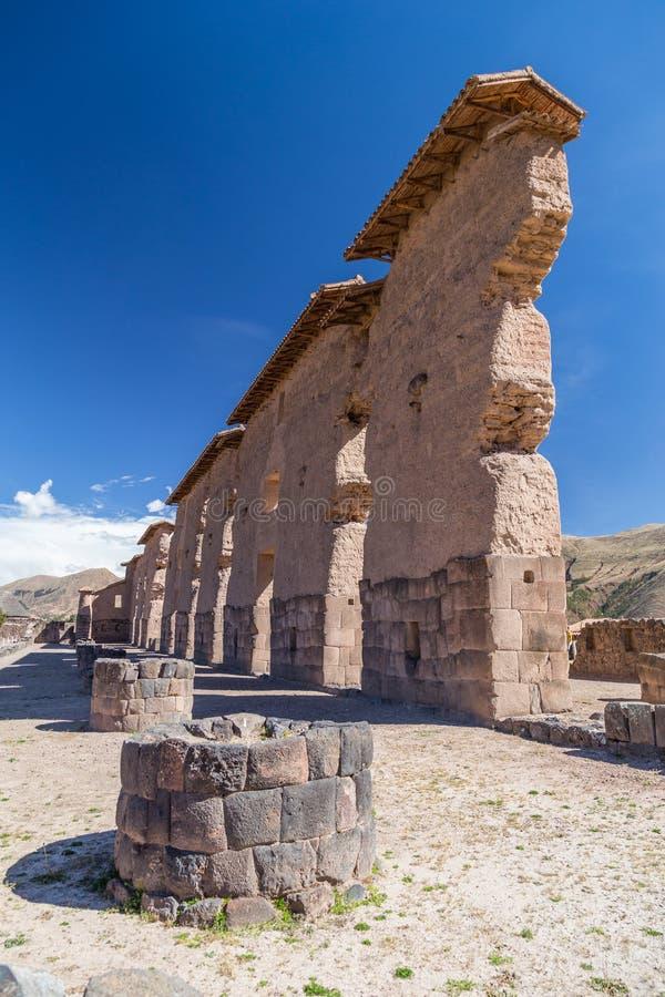 Καταστροφές Raqch'i, Raqchi ή του ναού Wiracocha κοντά σε Cusco, Περού στοκ εικόνες