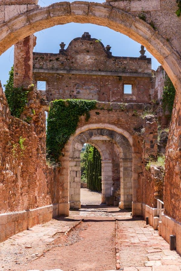 Καταστροφές Scala Dei, ένα μεσαιωνικό μοναστήρι στην Καταλωνία στοκ φωτογραφίες