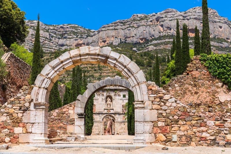 Καταστροφές Scala Dei, ένα μεσαιωνικό μοναστήρι στην Καταλωνία στοκ φωτογραφίες με δικαίωμα ελεύθερης χρήσης