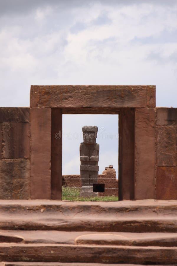 Καταστροφές Tiwanaku, Λα Παζ στοκ εικόνα με δικαίωμα ελεύθερης χρήσης