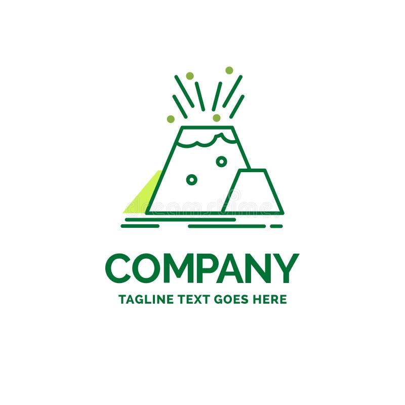 καταστροφή, έκρηξη, ηφαίστειο, επιφυλακή, επίπεδο επιχειρησιακό λογότυπο ασφάλειας te διανυσματική απεικόνιση