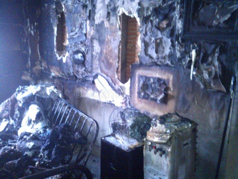 Καταστροφή από την πυρκαγιά στοκ εικόνα