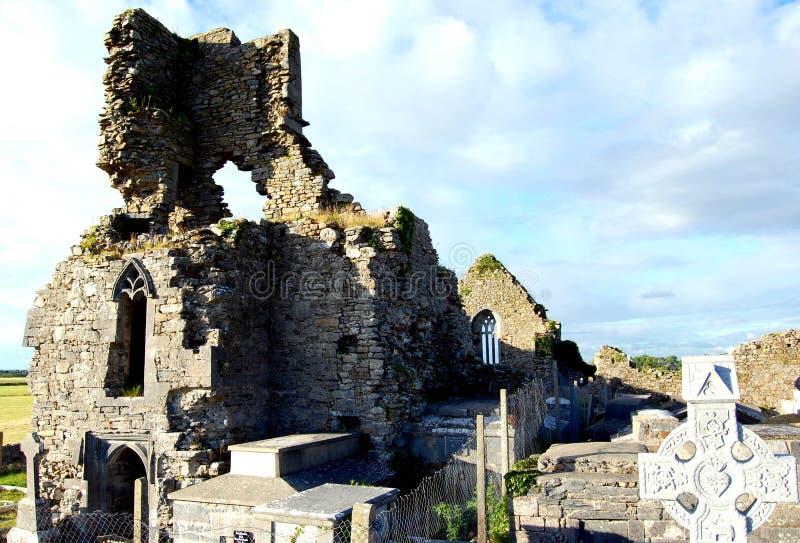 καταστροφή εκκλησιών abbeydorney στοκ φωτογραφία