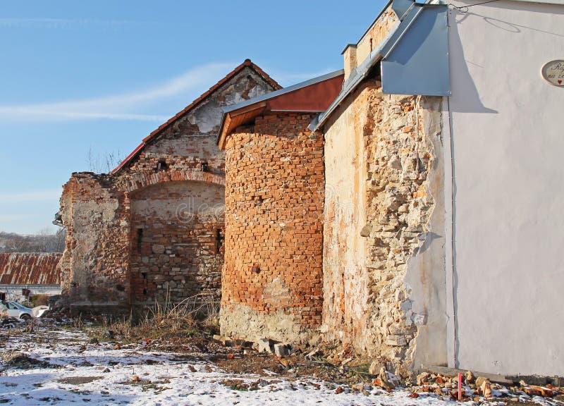 Καταστροφή ενός σπιτιού στοκ εικόνες