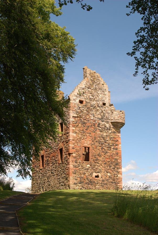 Καταστροφή πύργων Greenknowe στα σκωτσέζικα σύνορα στοκ εικόνες