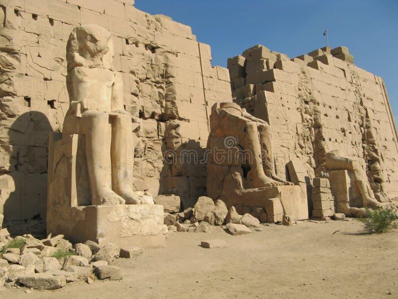 Καταστροφή του ναού Karnak Luxor στοκ φωτογραφία με δικαίωμα ελεύθερης χρήσης