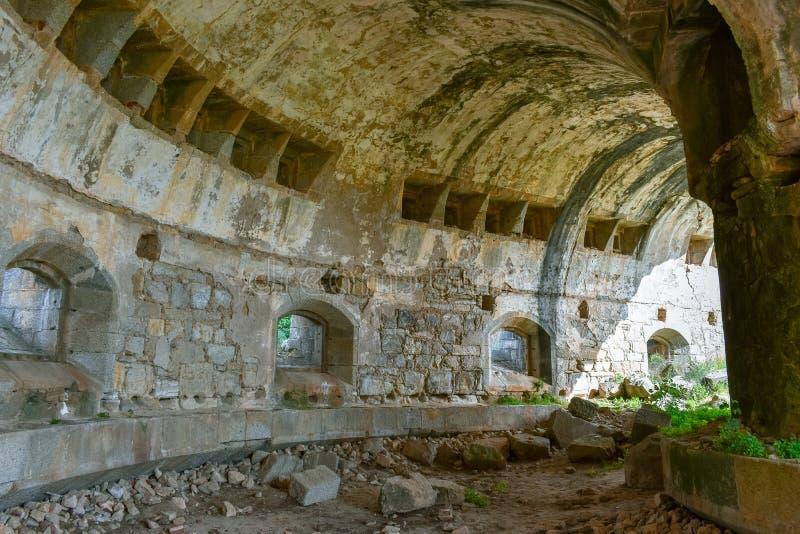 Καταστροφή των παλαιών σταύλων του στρατιωτικού οχυρού, Σαλαμάνκα στοκ φωτογραφία