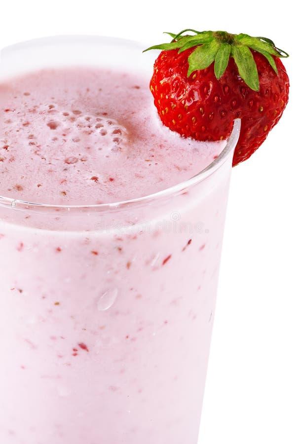 Καταφερτζής γάλακτος φραουλών στοκ εικόνα