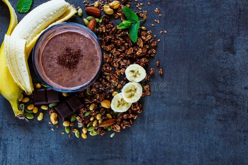 Καταφερτζής μπανανών σοκολάτας στοκ φωτογραφίες