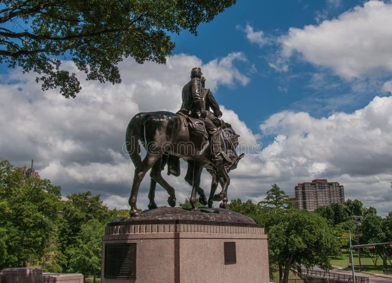 καταφύγια Robert ε Άγαλμα του Lee στοκ φωτογραφίες