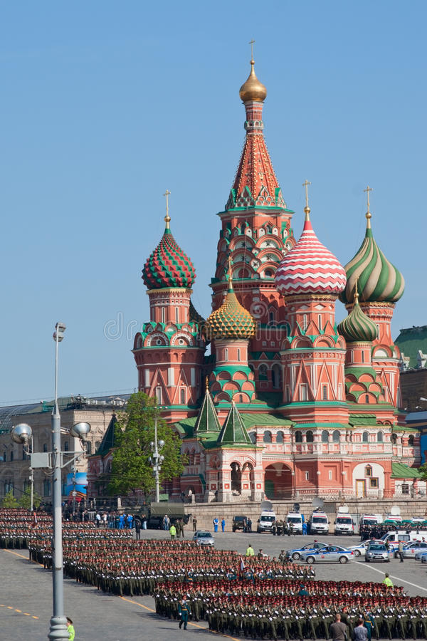 κατεβείτε το πεζικό σχηματισμών vasilyevsky στοκ φωτογραφία με δικαίωμα ελεύθερης χρήσης